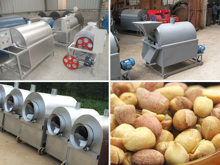 peanut roasting machine and spiced peanuts